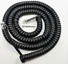 Inter Tel Axxess Handset Cord 5504000 5504400 Phone Charcoal Gray 25 Ft Long