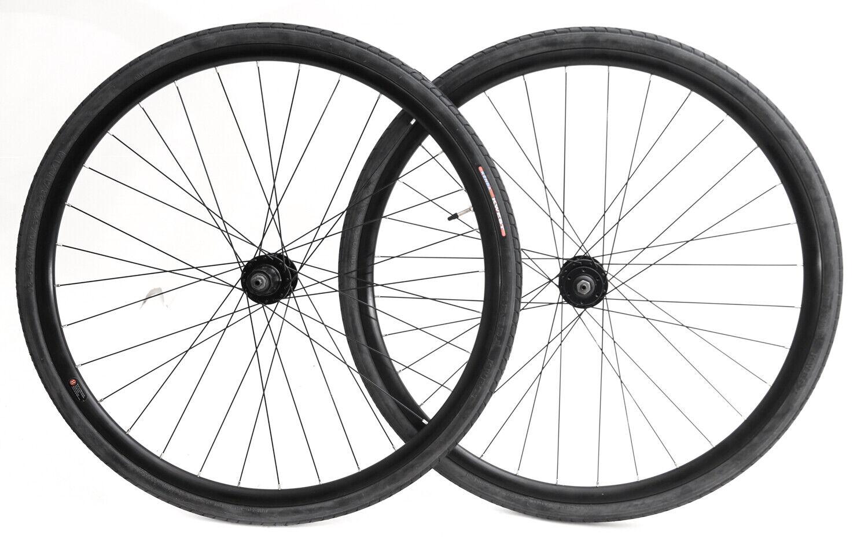 700c Disc Road Hybrid Cyclocross Bike Wheelset + Tires QR 8-10s NEW
