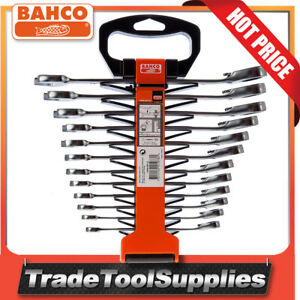 Bahco-Spanner-Set-Combination-Ratchet-12-Piece-Set-Reversible-1RM-SH12