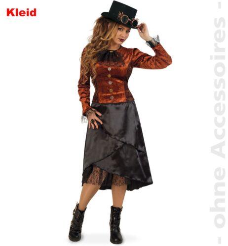 Damen Kostüm Steampunk Kleid Karneval Fasching Fri