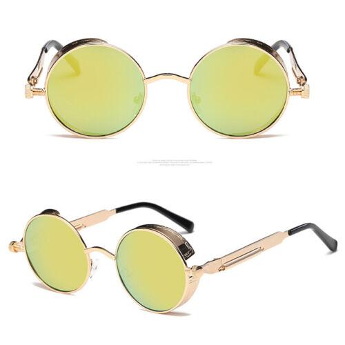 Men Women Vintage Polarized Sunglasses Steampunk Round Retro Glasses Eyeglass