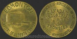 Edmonton-City-Hall-Capital-of-Alberta-Canada-Medal-Canada-039-s-Industrial-Frontier