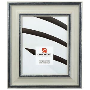 """Craig Frames Colonial Newport, 2.5"""" Light Gray Wood Picture Frame"""