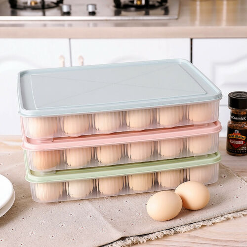 24 Eggs Box Plastic Refrigerator Keep Storage Container Egg Save Holder Useful