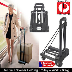 917ac42524a3 Details about Portable SHOPPING TRAVEL BOAT Folding FOLDABLE TRAVEL Luggage  Cart Hand Trolley