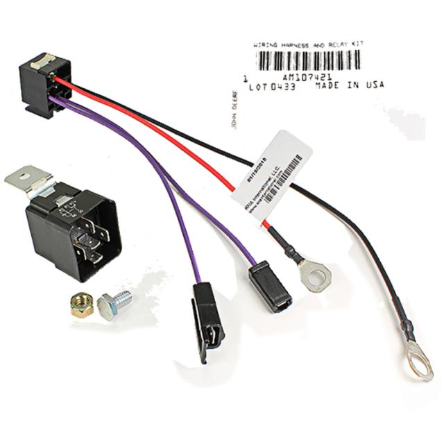 JOHN DEERE Genuine OEM Starter Relay Kit AM107421 316 318 160 180 420 GX75 SRX95
