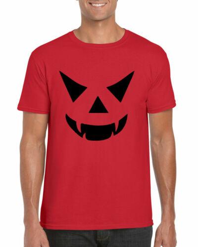 Halloween T-Shirt Pumpkin Cheap Horror Smile Jack Fancy Dress  Adults Tee Top