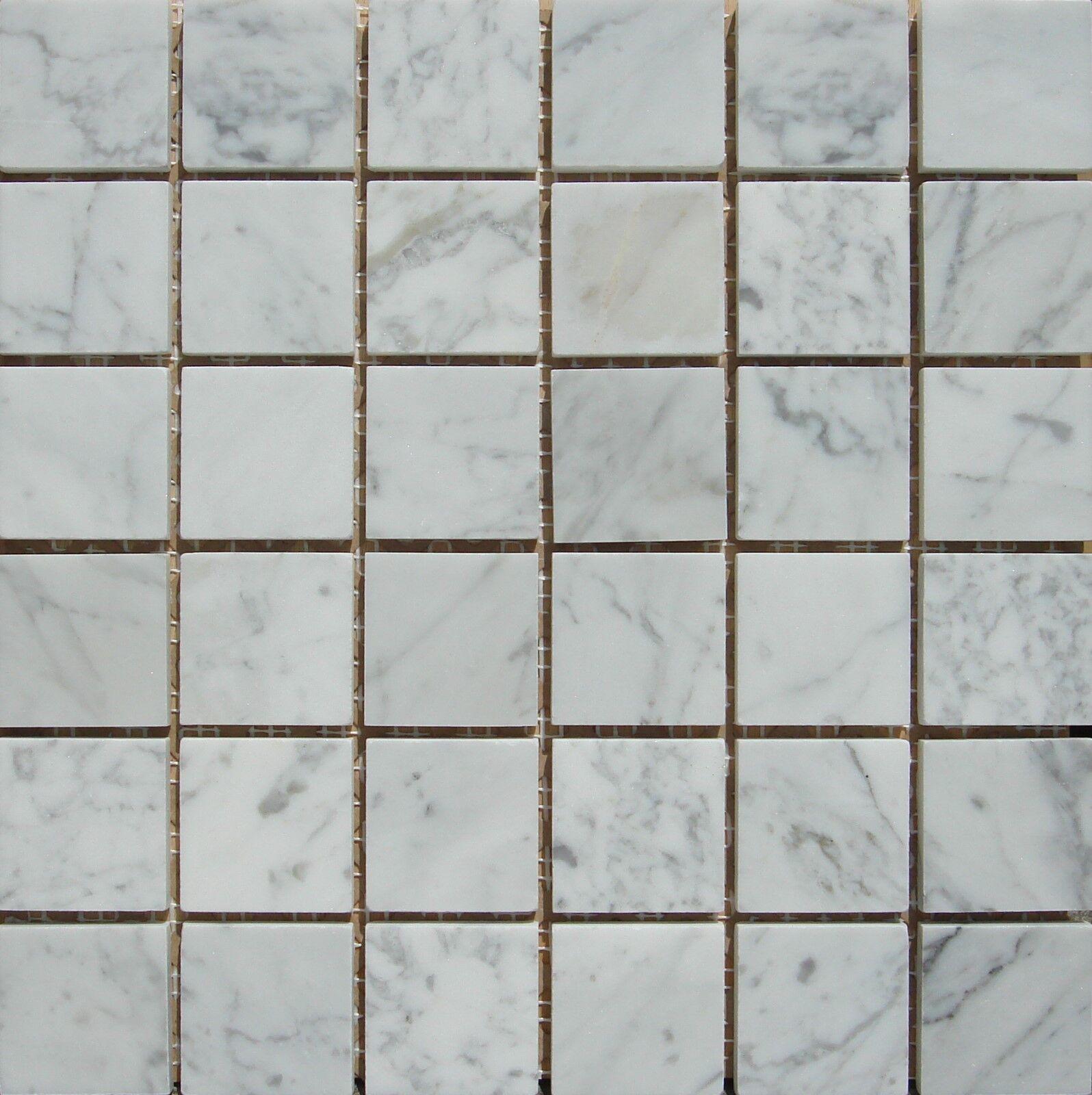 White Carrara 2 x2  Marble Mosaic Polished ( 10.50 per Sheet)