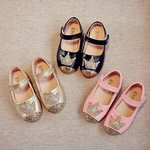 Toddler Kids Shoes Girls Baby Beading Shoes Princess Crown Sandals ... fd2b43c628cc