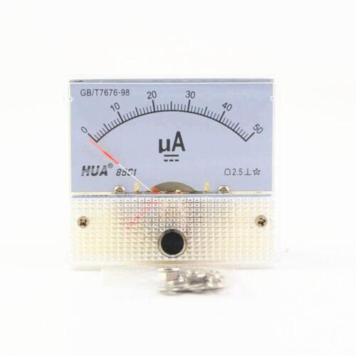 DC Analog Pointer Current Meter Panel 50uA 100uA 200uA 300uA 500uA Ammeters