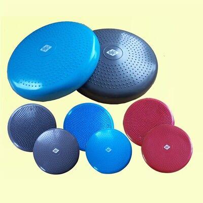 Pumpe BASIT Ballsitzkissen Balance Board Sitzkissen Gleichgewicht blau grau rot