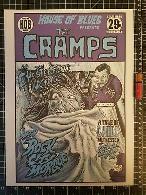 The Cramps Concert Poster 14 x 10 Reprint