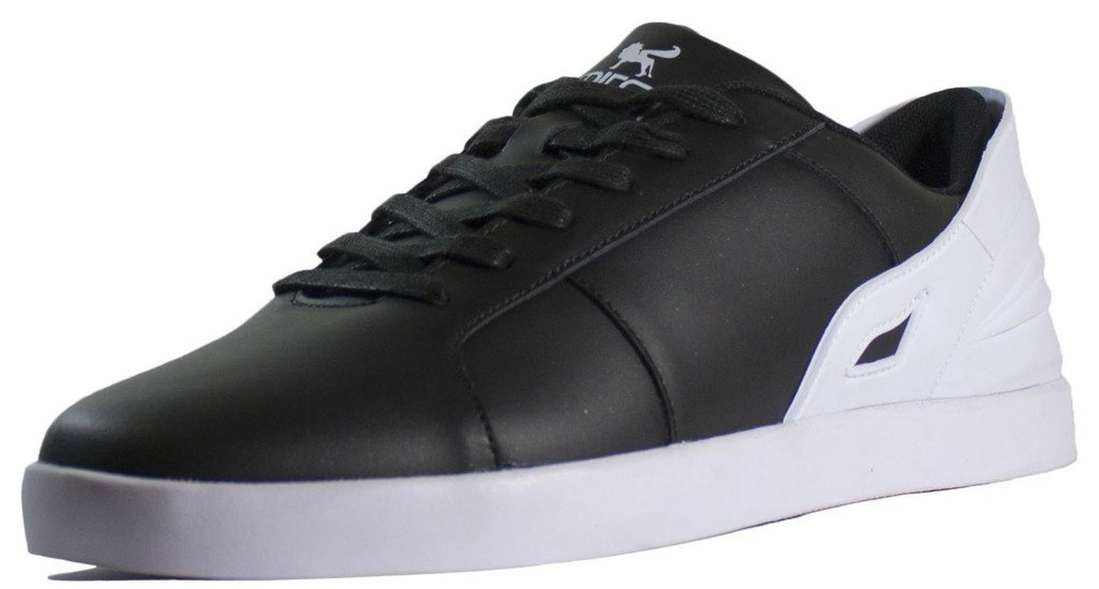 Triesti Men's Shell Low Top Skateboarding Shoes BLACK and WHITE Choose Size