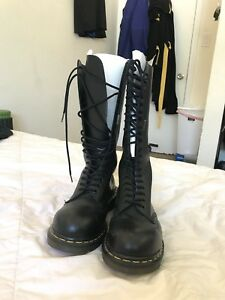Details about Dr Marten Knee High 20 Eye Boot Women US size 5 Black Made in England