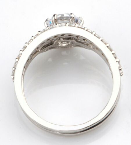 3.10Ct Round Cut In 925 Sterling Silver Stunning Solitaire Women/'s Ring