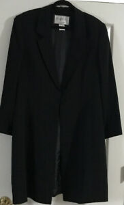 Vintage-Mary-Mcfadden-Collection-Long-Dress-Jacket-One-Button-Closure-Size-16
