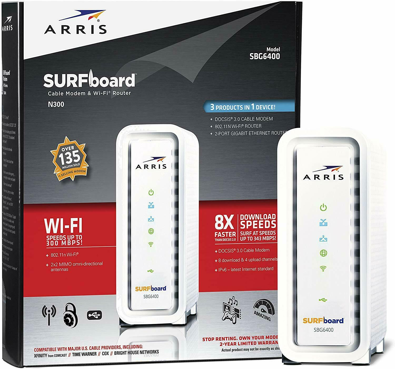 Arris SGB6400 Surfboard Cable Modem and WiFi Router