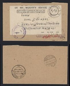 APO-Army-Post-Office-P-W-Discharge-Centre-Muenster-1949-Certfied-Official-OHMS