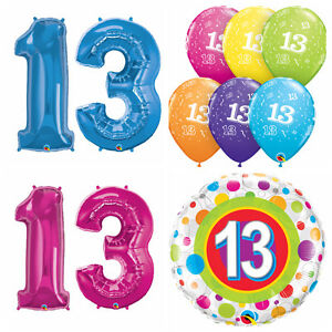 age 13 happy 13th birthday qualatex balloons helium party