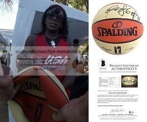 Ruthie Bolton Holyfield Monarchs Signed WNBA Basketball Proof Beckett Autograph