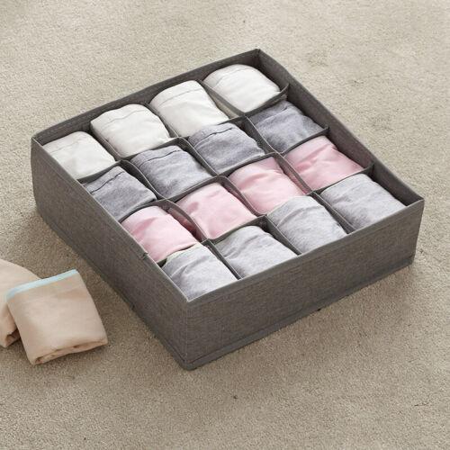 1 X Foldable Storage Underwear Sock Bra Tie Draw Divider Organiser Container Box