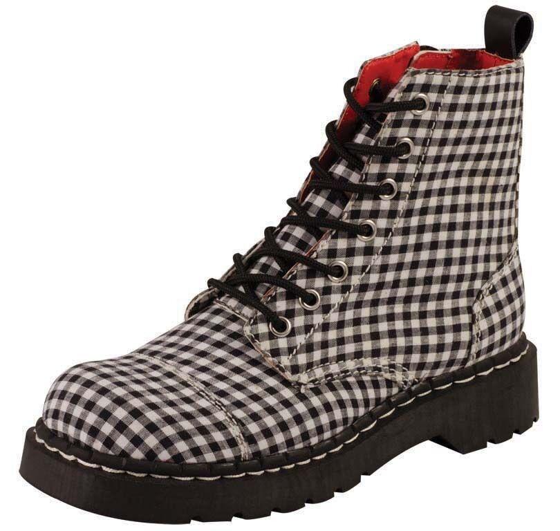 T.U.K. TUK Stiefel T2187 Schuhe Gingham Fabric Stiefel T2187 Stiefel karriert - Größe wählbar 30eb0b