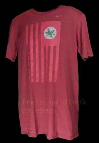 Nike Ohio State Buckeyes USA Flag Nation Shirt Tri Blend Large New 33181X *Rare