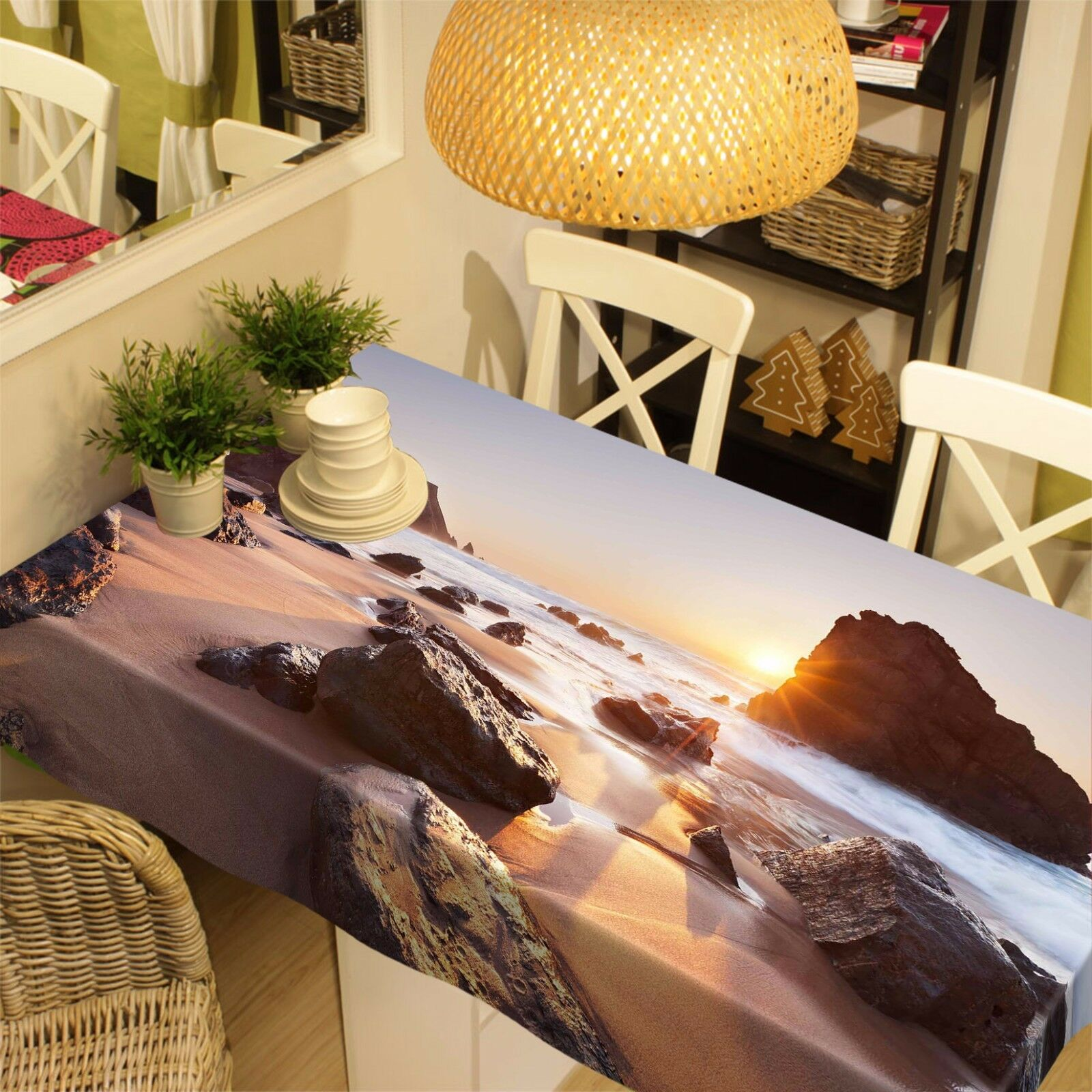3D Sea Stones 121 Tablecloth Table Cover Cloth Birthday Party Event AJ WALLPAPER