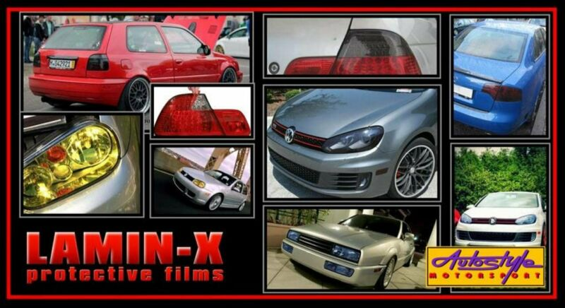 Lamin-X Tint Protective Film - Subtle tinted effect for front lighting - Tinted only percent - 50cm