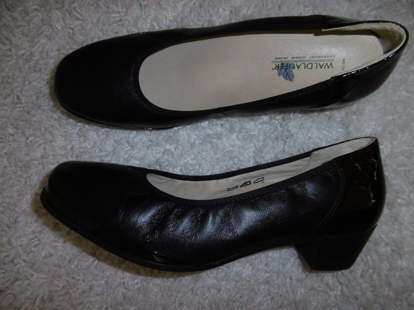 Waldläufer Damen Schuhe Schuhe Schuhe Gr.7 Leder Schwarz 0abb72