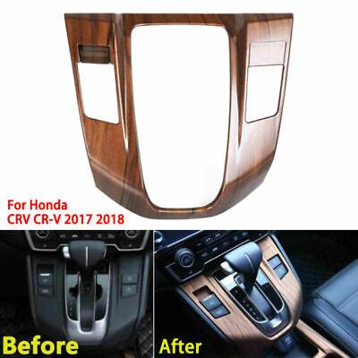 For Honda CRV CR-V 17-2019 Peach Wood Grain Interior Gear Shift Panel Trim Cover