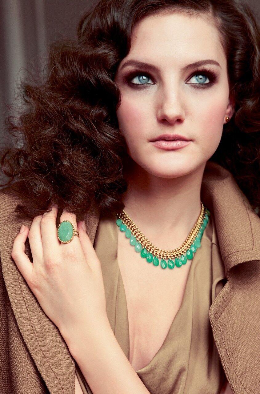 Collare Da women Sera Giada green Nuovo Model Classico Elegante CadeauMariage SD