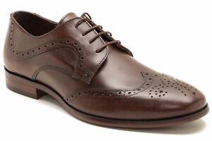 Red-Tape-Mens-Mottram-Brown-Formal-Shoe
