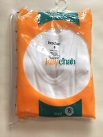 Key Chain Boys Undershirt 2 Pack White 100% Cotton Size 8