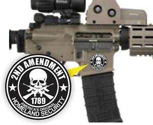 3 - AR15 Lower Decals / 2nd Amendment AR-15 Gun / MAG 5.56 Magazine Stickers