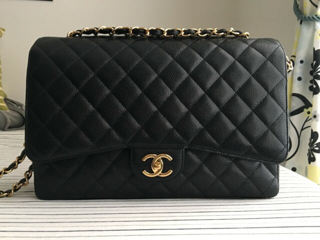 Chanel Maxi Double Flap Bag Caviar Ghw