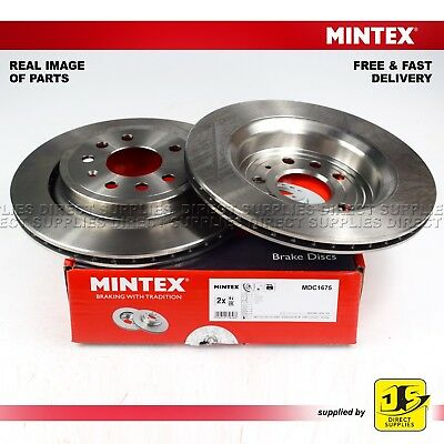 - MDC1525 2X DISCS FREE NEXT DAY DELIVERY REAR- BRAKE DISCS NEW MINTEX