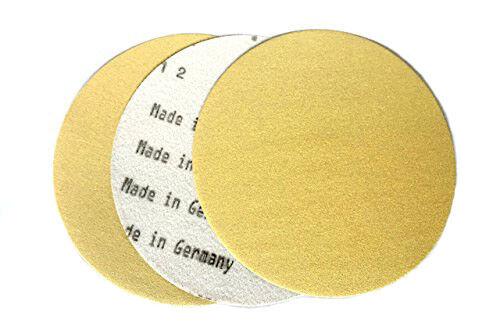 50 Pack, 40 Grit 5 Inch Gold Hook and Loop Grip Sanding Discs