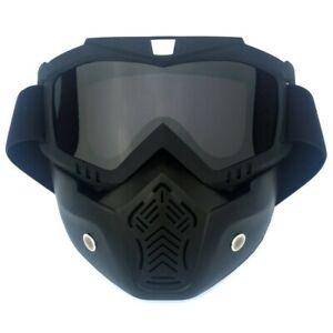 lunette + Masque moto  écran fumé