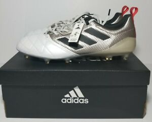 reputable site 48a13 ba6b3 Details about ADIDAS ACE 17.1 FG W WOMEN'S SOCCER CLEATS PLATINUM METALIC  BLK RED BA8554 SZ 10
