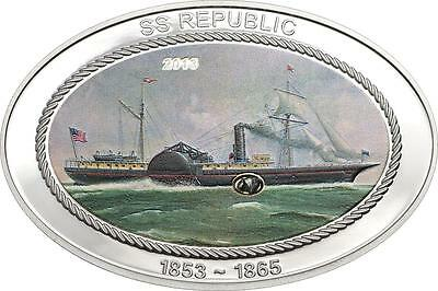 Cook Islands 2013 $5 SS Republic 1853-1865 25g Silver Proof Coin with Insert