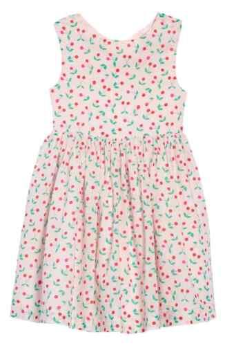 EX-BODEN GIRLS CROSS BACK PRINTED COTTON PRETTY DRESS 4 COLOURS BNWOT