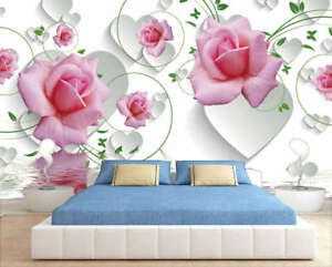 Details About Supreme Tender Rose 3d Full Wall Mural Photo Wallpaper Printing Home Kids Decor