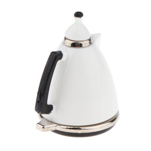 1:12 Scale Miniature White Coffee Pot Dollhouse Accessories for Kitchen