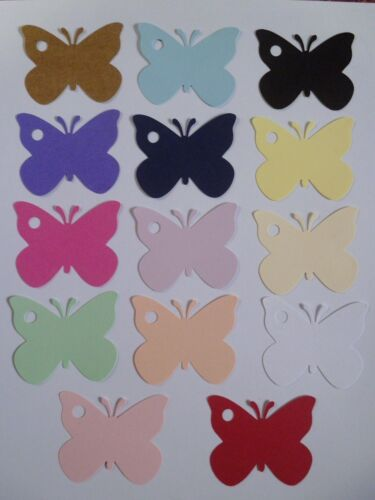 20 BUTTERFLY SHAPED TAGS GIRL  NAME CARDS WEDDING PARTY PRESENT PRICE TAG LABEL