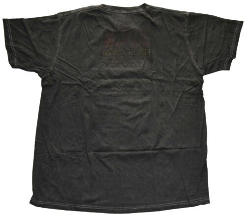 AC//DC Highway to Hell Tour Charcoal Black Wash Men/'s T-Shirt New Heavily Faded