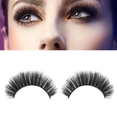 100% Real Mink Natural Thick False Fake Eyelashes Makeup Extension Eye Lashes