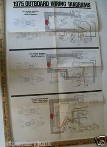 1975 Johnson Factory Wiring Diagram For The 50 hp model w ...