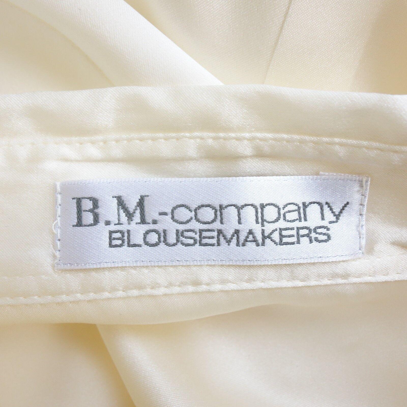 BM BLOUSEMAKERS COMPANY Blause Blause Blause Damen 40 Ivory SeidenBlause Reine Seide NP 230 NEU b14c32