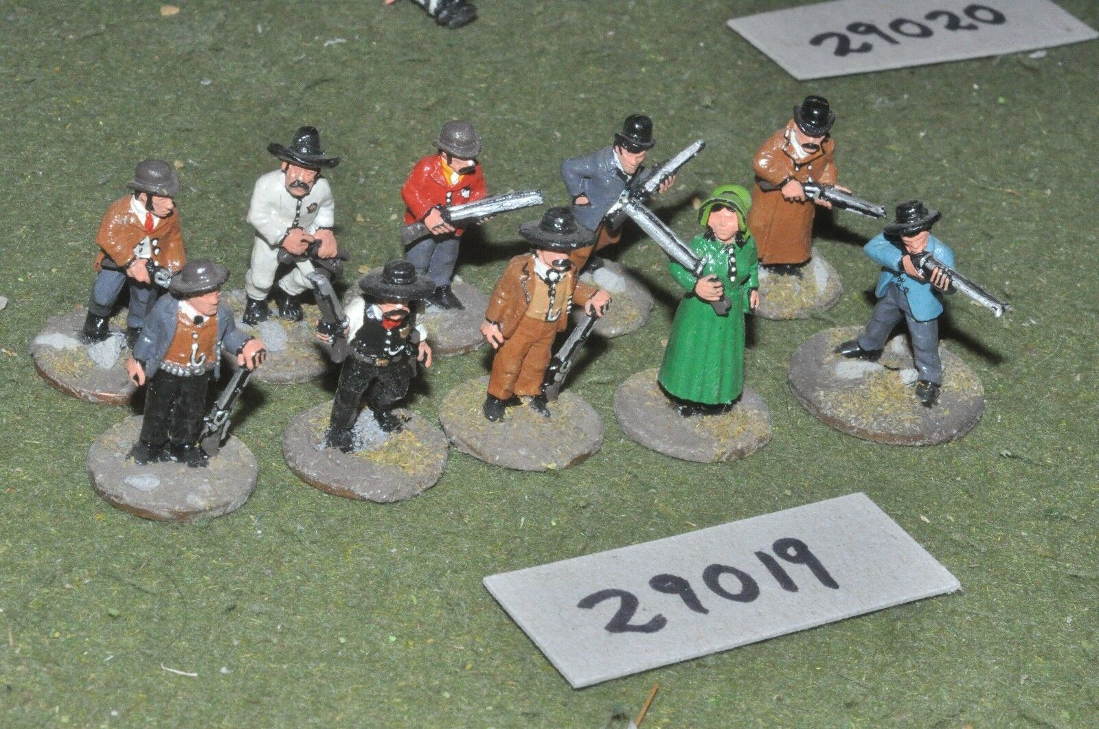 25mm ACW   old west - gunfighters 10 figures - inf (29019)
